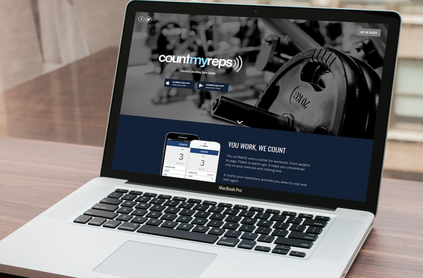 Web Design Portfolio: CountMyReps