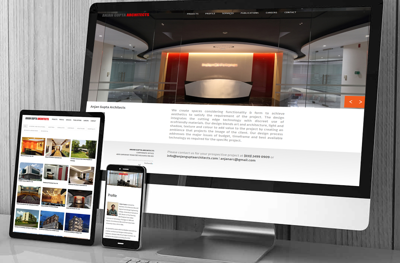 Responsive Design Portfolio: Anjan Gupta Architects
