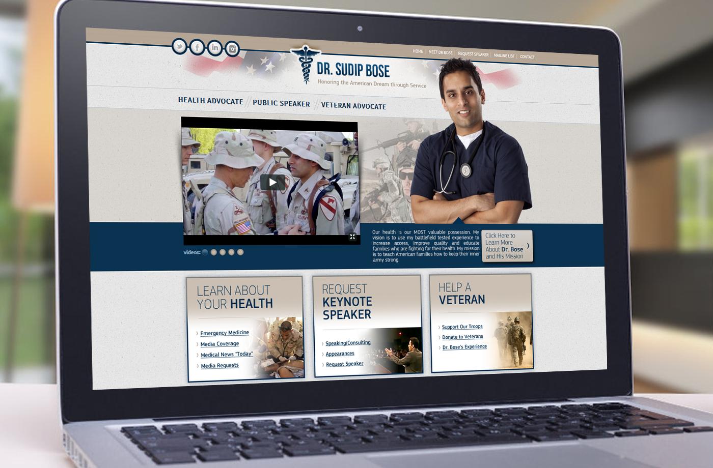 Web Design Portfolio: Dr. Sudip Bose