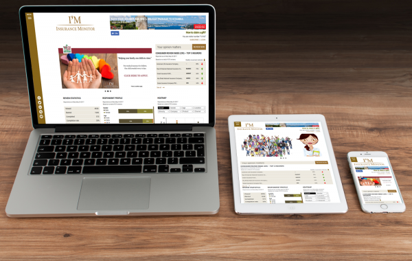 Responsive Design Portfolio: Insurance Monitor