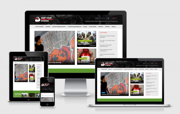 Responsive Design Portfolio: Keep Your Inner Army Strong